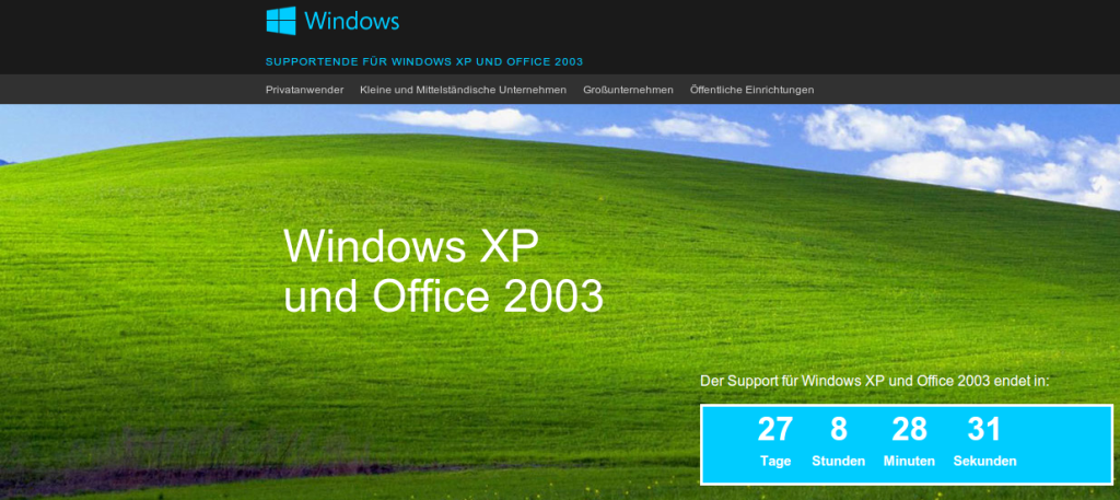Microsoft Windows XP Supportende